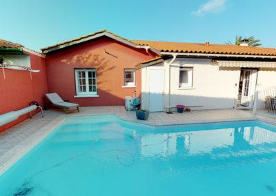 visite virtuelle 3d – Maison avec piscine proche cinq cantons Anglet